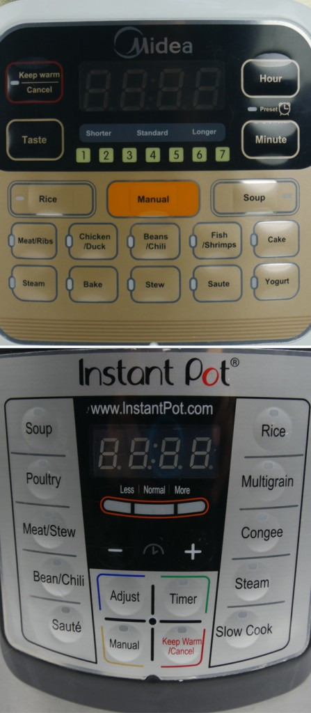 MY-CS6002W和Instant Pot IP-LUX60功能对比