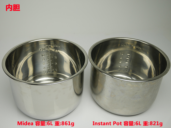 MY-CS6002W和Instant Pot IP-LUX60 内胆