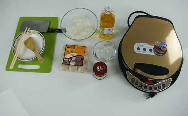 美国LIVEN利仁电饼铛LR-A434——制作鸡蛋饼