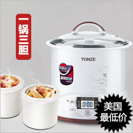 Tonze Smart Twin Ceramic Pot Electric Stewpot DGD22-22EG slow cooker