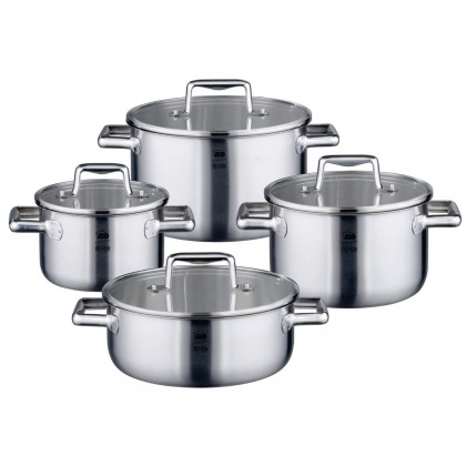 ELO Premium Multilayer Cookware Set 8 pieces high quality 3 layered material Stainless Steel 33004