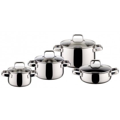 ELO Shape cookware set 8 pieces Stainless Steel 90014