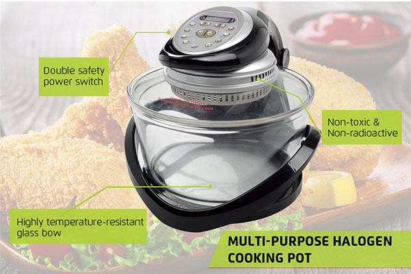 Goldlabo Glass Housing Multi-purpose 12L Portable Convection Oven CG02B