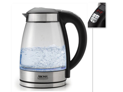 Automatic Cordless Digital Water Kettle with Tea Infuser