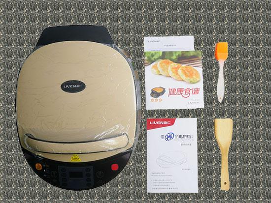 美国利仁电饼铛lr D3020a 开箱测评,智能触摸屏 厨房有约