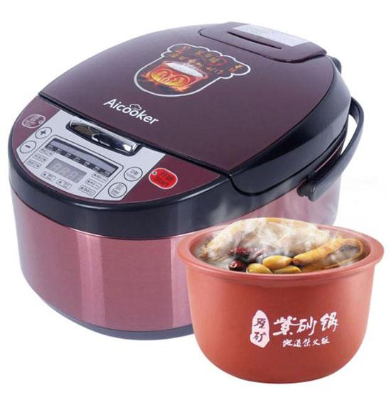 美国Aicooker 120V紫砂内胆电饭煲