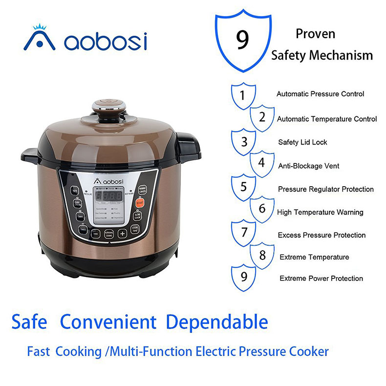 Aobosi电压力锅 9大安全防护