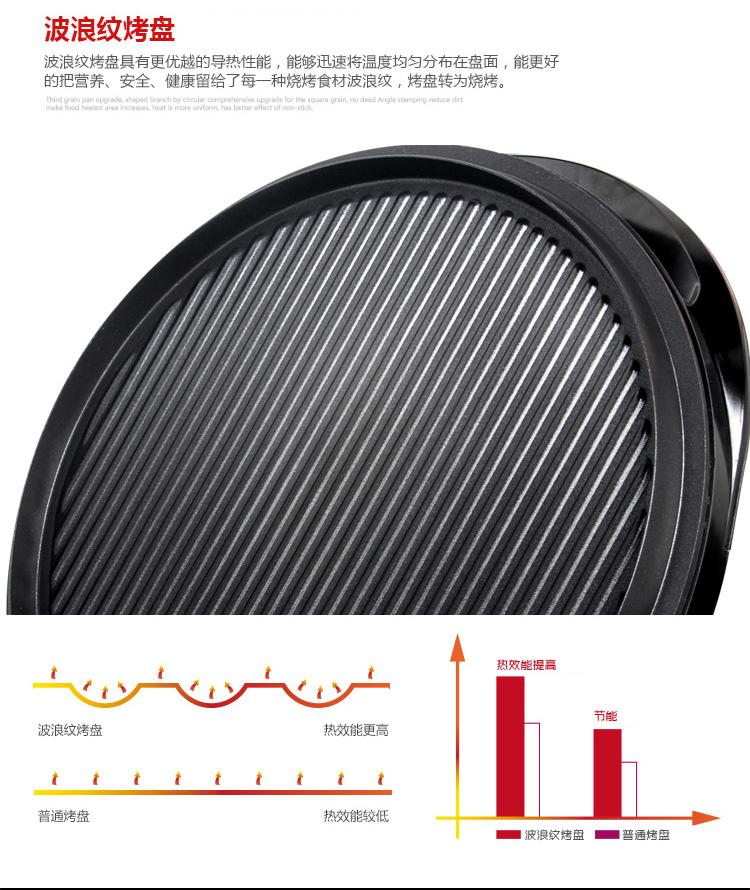 利仁电饼铛LRT-326A波浪纹烤盘