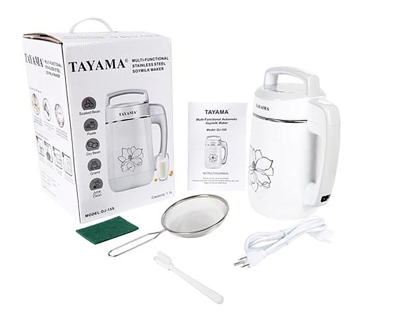 Tayama多功能全自动豆浆机DJ-15S产品包装清单