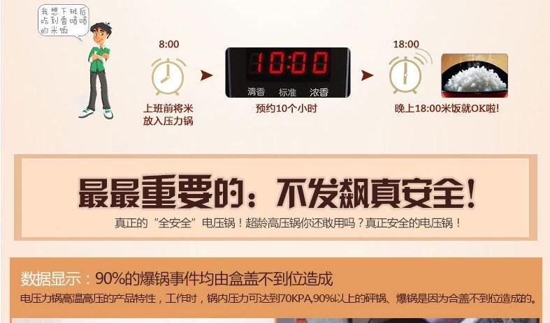 美的智能显示屏多功能电压力锅MPC176-SS 6.3夸脱/6L